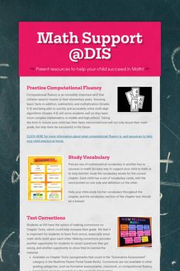 Math Support @DIS