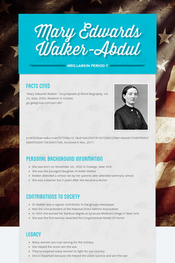 Mary Edwards Walker-Abdul