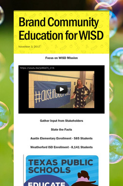 Brand Community Education for WISD