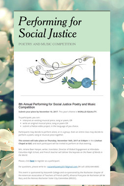 Performing for Social Justice