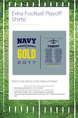Extra Football Playoff Shirts!
