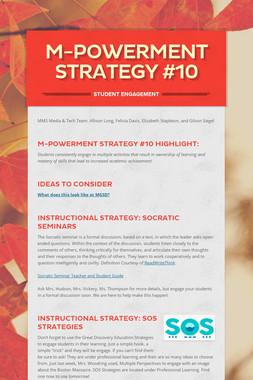 M-Powerment Strategy #10