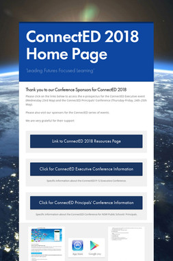 ConnectED 2018 Home Page