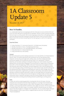 1A Classroom Update 5