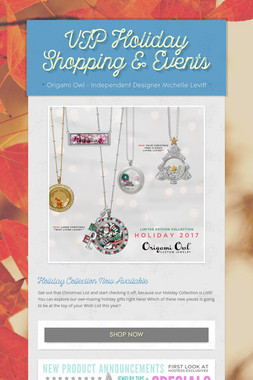 VIP Holiday Shopping & Events