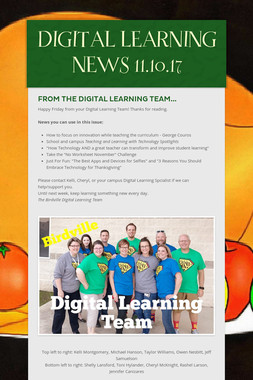 DIGITAL LEARNING NEWS 11.10.17