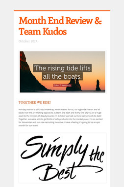Month End Review & Team Kudos