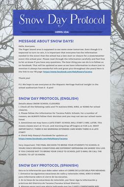 Snow Day Protocol