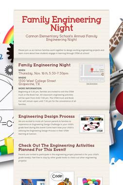 Family Engineering Night