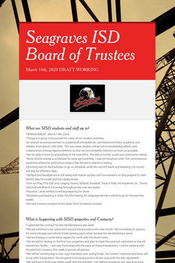 Seagraves ISD Board of Trustees