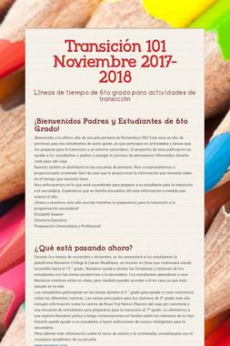 Transición 101 Noviembre 2017-2018