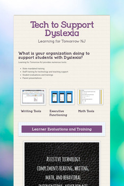 Tech to Support Dyslexia