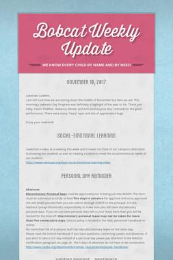 Bobcat Weekly Update