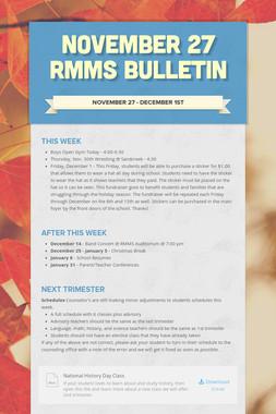 November 27 RMMS Bulletin