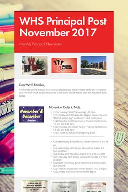 WHS Principal Post November 2017