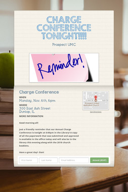 CHARGE CONFERENCE TONIGHT!!!!