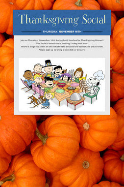 Thanksgiving Social