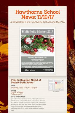 Hawthorne School News: 11/10/17