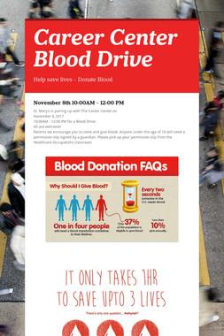 Career Center Blood Drive