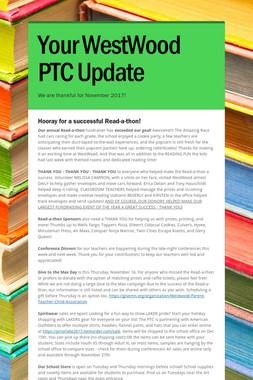 Your WestWood PTC Update
