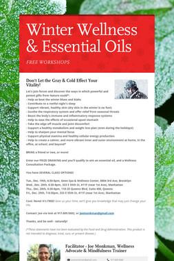 Winter Wellness & Essential Oils