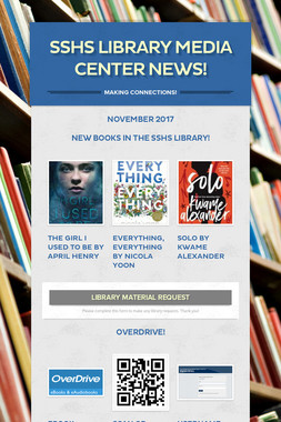 SSHS Library Media Center News!