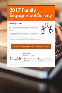 2017 Family Engagement Survey