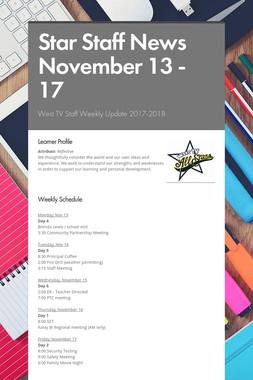 Star Staff News November 13 - 17