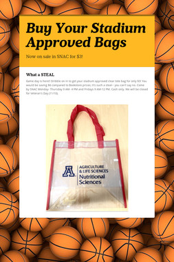Buy Your Stadium Approved Bags