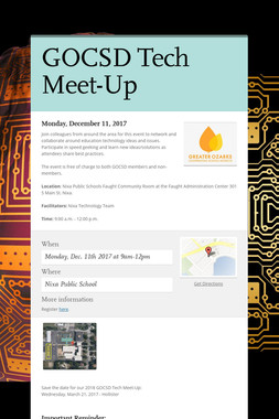 GOCSD Tech Meet-Up