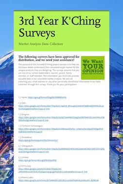 3rd Year K'Ching Surveys