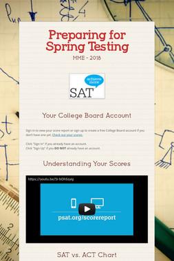 Preparing for Spring Testing