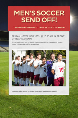 Men's Soccer Send Off!