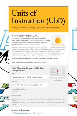 Units of Instruction (UbD)