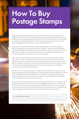 How To Buy Postage Stamps