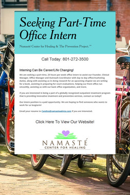 Seeking Part-Time Office Intern