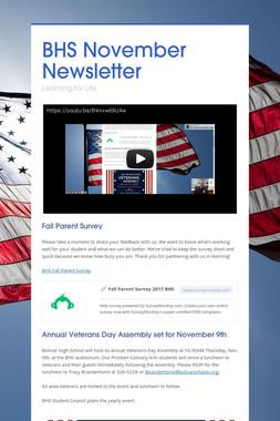 BHS November Newsletter