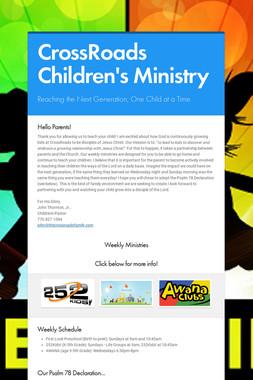 CrossRoads Children's Ministry