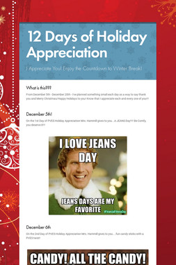 12 Days of Holiday Appreciation