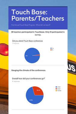 Touch Base: Parents/Teachers