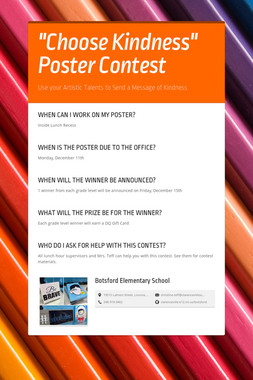 """""""Choose Kindness"""" Poster Contest"""