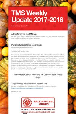 TMS Weekly Update 2017-2018