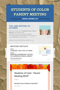 Students of Color  Parent Meeting