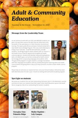 Adult & Community Education