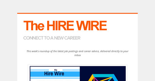 The HIRE WIRE | Smore Newsletters for Business