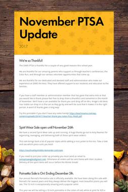 November PTSA Update