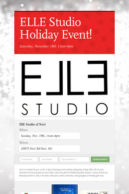 ELLE Studio Holiday Event!