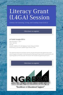 Literacy Grant (L4GA) Session