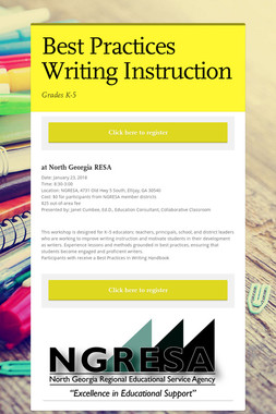 Best Practices Writing Instruction