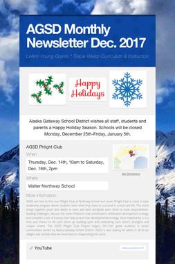 AGSD Monthly Newsletter Dec. 2017